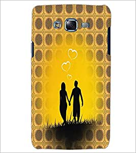 PrintDhaba Couple D-6006 Back Case Cover for SAMSUNG GALAXY J7 (Multi-Coloured)