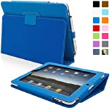 Snugg® iPad 1 Case - Cover with Flip Stand & Lifetime Guarantee (Electric Blue Leather) for Apple iPad 1