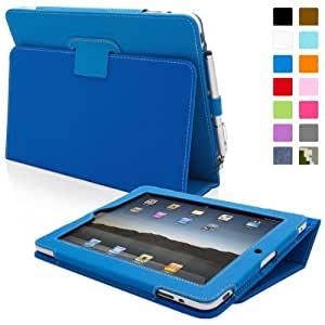 Snugg™ - Étui Pour iPad 1 - Housse Avec Support Pied Et Une Garantie à Vie (En Cuir Bleu) Pour Apple iPad 1