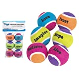 Grriggles Inspiration Dog Toy Tennis Balls 6-Pack