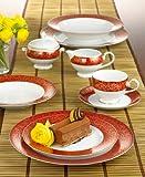Mikasa Parchment Red #L3471 Rim Soup Bowls