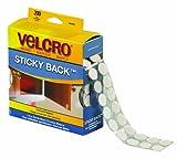 """Velcro VEL153 Hook and Loop Dot Tape Combo Pack, 3/4"""" Diameter, White (Case of 200)"""