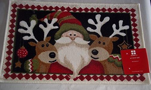 Santa's Team Christmas Accent Mat