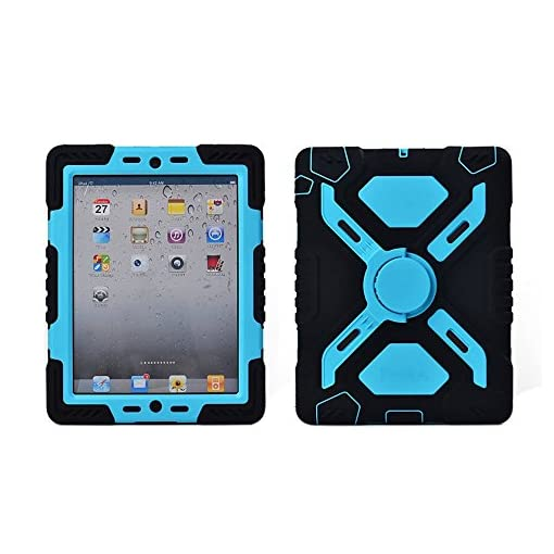 Ipad-2-3-4-Case-Afranker-Plastic-Kid-Proof-Extreme-Duty-Dual-Protective-Back-Cover-with-Kickstand-and-Sticker-for-Ipad-4-3-2-Rainproof-Sandproof-Dust-proof-Shockproof