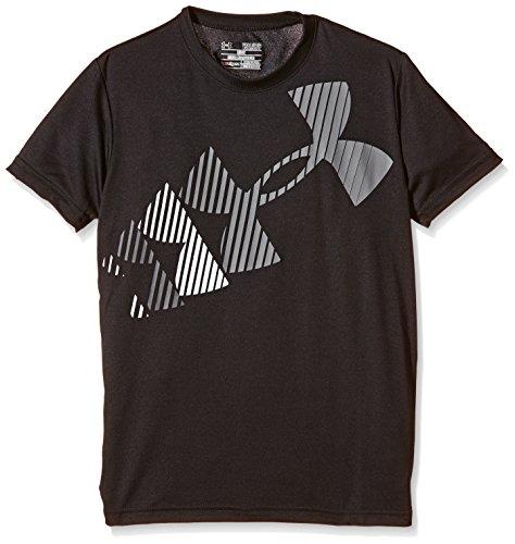 Rising alta visibilità Under Armour-Maglietta a maniche corte, con Logo, da ragazzo nero Nero FR : S (Taille Fabricant : YSM)