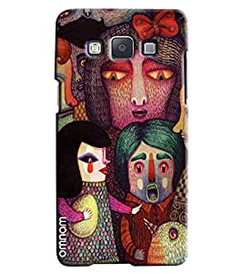 Omnam Painted Boy Girl Effect Emotion Printed Designer Back Cover Case For Samsung Galaxy A3