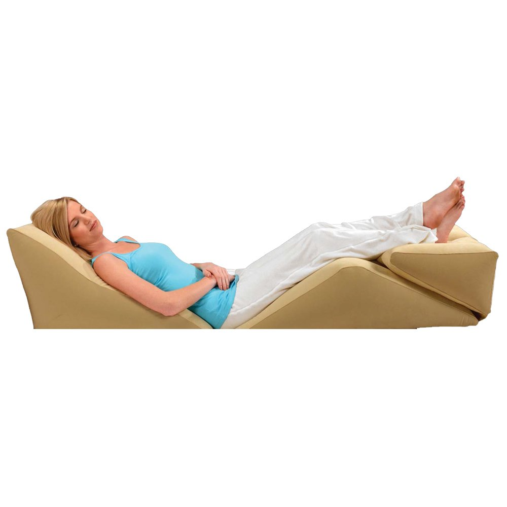 Wedge cushion pillow bed support back pain relief lumbar for Sleeping bed