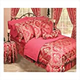 30 Pc Elegant Burgundy Red Bedding Set