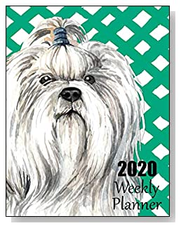 Shih Tzu 2020 Dated Weekly Planner - A fun canine-themed planner to help any dog lover stay organized and keep track of activities on a daily, weekly, and monthly basis from January to December 2020.