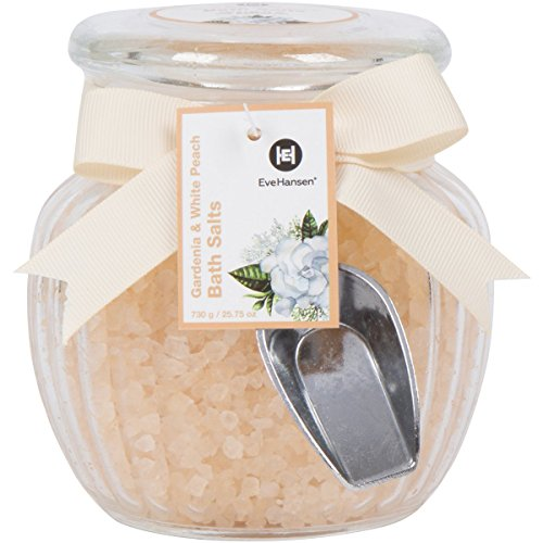 Large 25oz Relaxing Spa Bath Salt in Beautiful Glass Jar & Scooper - Best Skin Detoxifying + Rejuvenating Natural Sea Salts - Nourishing Blend w/Exotic Scents for a Body Soothing Soak. Great for Gift