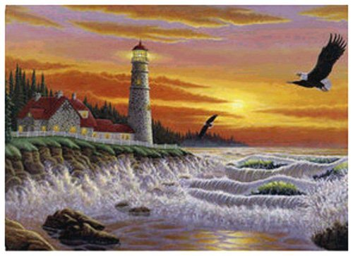 The Guiding Light 1000 Piece Puzzle featuring the Art of Michael Matherly - 1