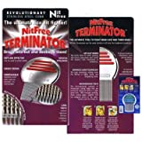 (US) Nit Free Terminator Lice Comb,  Professional Stainless Steel Louse and Nit Comb for Head Lice Treatment, Removes Nits