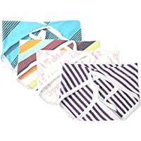 Kidbee New Born Baby Hosiery Cloth Nappy Multi Color Set Of 4a[0-6MONTHS]