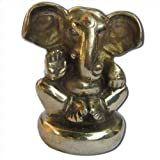 Hindu God Lord Ganesha Statue Handmade Brass Collectibles from India 5.72 x 7.62 x 8.89 cmsby DakshCraft