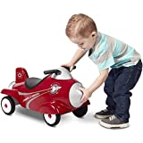 Radio Flyer Retro Rocket Ride-On with Lights and Sounds, Red