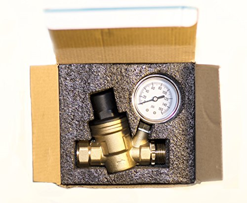 water pressure regulator brass lead free adjustable water pressure reducer new ebay. Black Bedroom Furniture Sets. Home Design Ideas