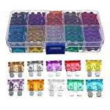 100 pcs Assorted Auto Car Trunk Standard Blade Fuse 2,3,5,7.5,10,15,20,25,30 35 Amp Car Boat Truck SUV Automotive Replacement Fuses Auto Holder Fuse Kit Car Accessories