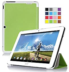 VSTN ® Acer Iconia Tab 10 A3-A20 ultra-thin Smart Cover Case with Auto Sleep / Wake Faction, Only fit Acer Iconia Tab 10 A3-A20 tablet (Smart case, Green)
