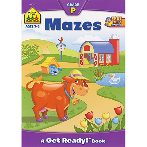 Preschool Workbooks 32 Pages-Mazes (Preschool Drawing Paper compare prices)