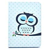 Galaxy Tab4 10.1 inch T530, IVY Owl - Fashion Cute Synthetic Leather Flip Holder Support Case With Soft TPU Cover Skin For Samsung Galaxy Tab 4 10.1 Tablet ( 10.1 inch Tab 4, SM-T530 / T531 / T535)