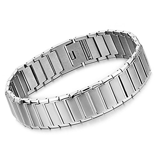 Bemaystar Simple Classical Stainless Steel Bracelets For Men(Color Silver)