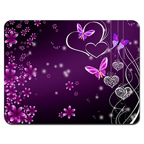 Meffort-Inc-Standard-95-x-79-Inch-Mouse-Pad-Pink-Purple-Butterfly-Design