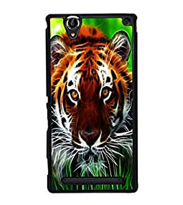 printtech Tiger Eyes Look Grass Back Case Cover for Sony Xperia T2 Ultra , Sony Xperia T2 Ultra Dual