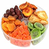 Tropical Dried Fruit Gift Basket Tray 6 - Section - Oh! Nuts