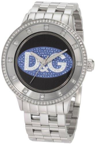 D&G Dolce & Gabbana Men's DW0849 Prime Time Silver & Bkue D&G Logo Watch