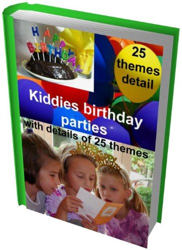 Kiddies birthday parties, detailing 25 birthday party themes
