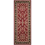 "Safavieh Lyndhurst Collection LNH331B Red and Black Area Rug, 2 feet 3 inches by 4 feet (2'3"" x 4')"