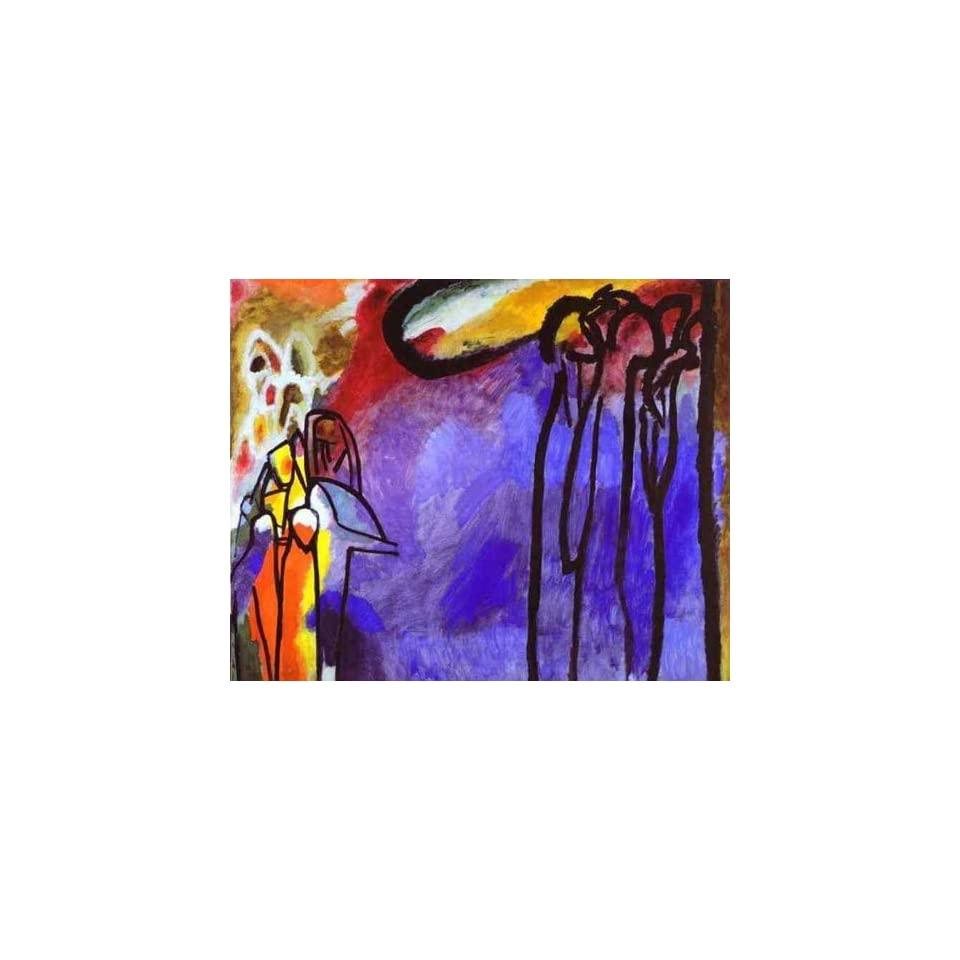 Oil Painting Improvisation 19 Wassily Kandinsky Hand Painted Art