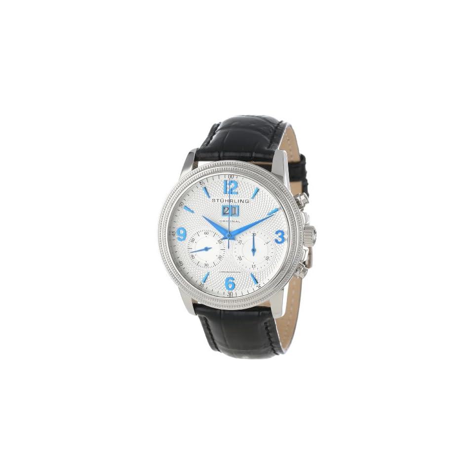 Stuhrling Original Mens 286.33152 Symphony Eternity Mercury Mechanical Chronograph Date Silver Tone Watch