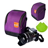 First2savvv high quality anti-shock purple Nylon camera case bag for FUJIFILM X-Pro1 X-E1 X100S X100 X20 X10 X-A1 olympus SP-820UZ SP-720UZ SZ-30MR SZ-10 SZ-11 with LENS Cleaning Cloth