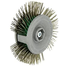"Norton Drill Mount Rapid Strip Wire Wheel Brush, 4"" Diameter"