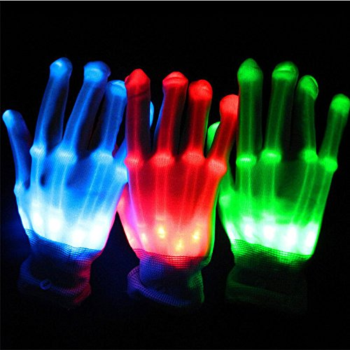 Flashing Multi-Color Electro LED Gloves Light Up Halloween Dance Rave Party Carnival Halloween Christmas as Props