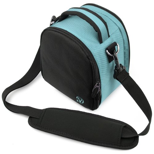 Vg Sky Blue Laurel Dslr Camera Carrying Bag With Removable Shoulder Strap For Nikon D3200 Digital Slr Camera