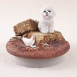 Bichon Frise Candle Topper Tiny One \