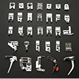 32pcs Sewing Machine Presser Foot Set for Brother, Babylock, New Home, Janome, Elna, Toyata, Singer, Elna, Simplicity, Necchi, New Home, Kenmore