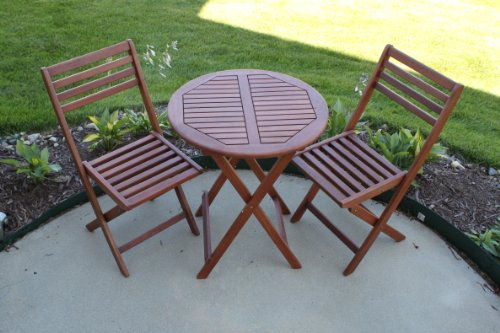Patio Sets Clearance 3pc Cambridge Outdoor Wood Patio