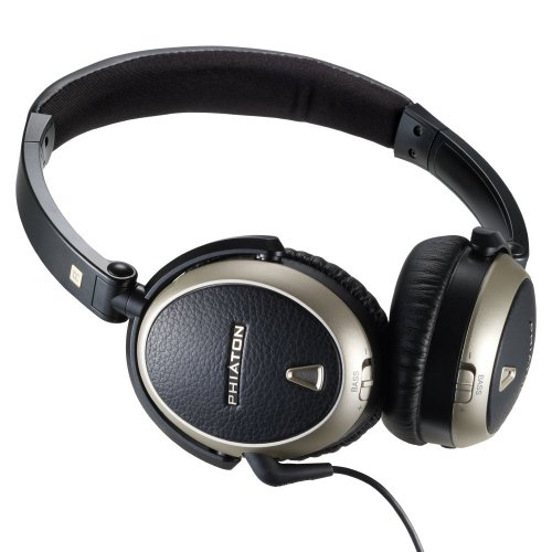 Phiaton PS 300 NC Premium Noise Cancelling Headphones With Studio Grade 40mm Titanium Drivers and Fold-N-Go Design