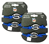 Seattle Seahawks - NFL Blue Stretch Bracelets / Hair Ties (2-Pack) at Amazon.com