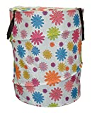 Kuber Industries Foldable Drum Laundry Basket (Multicolor)