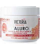 Victoria Beauty - CrÃ..me Visage Jour et Nuit - Anti-Rides à base de Hyaluron, Caviar et Rainsin Rouge - Age 50 à 65+ - 50ml
