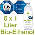 6 x 1L Bioethanol 96,6% - 6 Liter in...