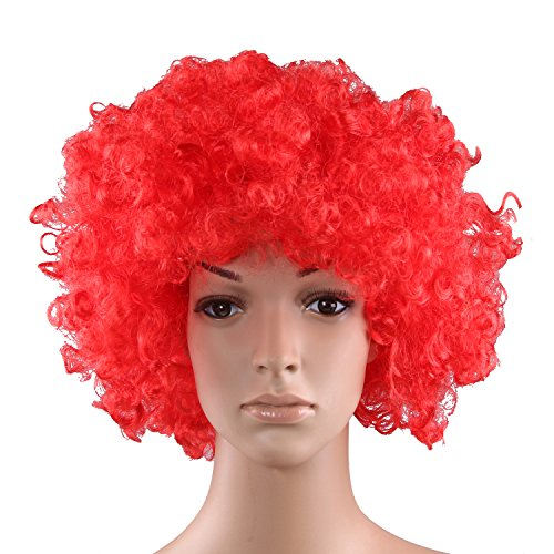 HOTER® Curly afro wig,costume wig,clown wig,assorted colour - Red