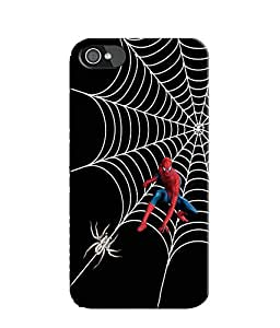 EU4IA Hindi - Spiderman MATTE FINISH 3D MATTE FINISH Back Cover Case For iPhone 4 - D465