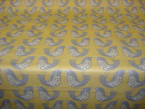 smd-scandi-birds-mustard-matt-finish-100-cotton-pvc-oilcloth-vinyl-tablecloth