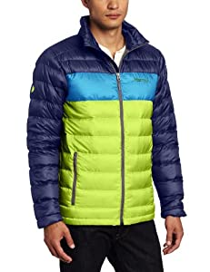 Marmot Men's Ares Jacket, Green Lime/Navy, Small