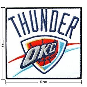 Oklahoma City Thunder Logo Embroidered Iron on Patches
